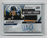 Victor Olofsson 2019-20 Upper Deck Premier Rookie Attractions Patch 72/99 Sabres