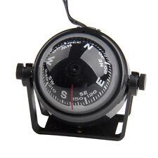 Kugelkompass Compass Bootskompass Schwarz KFZ Navigation mit LED Licht 2017 Neu