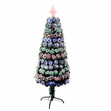 6ft  LED Pre lit Fibre Optic Christmas Tree Frosted Tips Xmas Decorations Tree