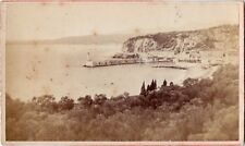 Early Albumen CDV Nice France Entry to the Port by Degand of Nice Dated 1877