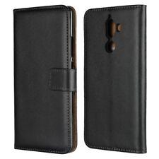Nokia 7 Plus Wallet Case Genuine Split Echt Leder Tasche TPU Schutz Hülle Etui