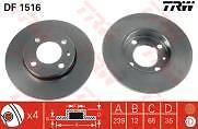 VW Golf 1.6 1.8 GTi Gasolina 80-92 Delantero Discos De Freno 239 mm Solid