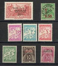 ALGERIE: SERIE COMPLETE DE 8 TIMBRES-TAXES N°27/34 NEUF** MNH Cote: 6,40€