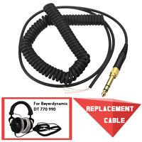 Ersatz Audio Kopfhörer Spiral Kabel für Beyerdynamic DT 770 770Pro 990 990Pro