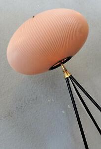 PLISSEE TRIPOD LAMPE 50er 60er noguchi akari stil retro vintage scoubidou