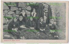 SCOTTISH ISLAND POSTCARD GROUP OF ST KILDA WOMEN SCOTLAND G.W.W VINTAGE 1905-10