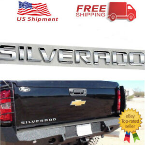 For Chevrolet Silverado 1500 2500 3500 3D Letters Door Tailgate Emblem Nameplate