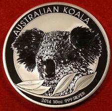 2014 10 OZ AUSTRALIAN KOALA DESIGN .999% SILVER ROUND BULLION COLLECTOR COIN