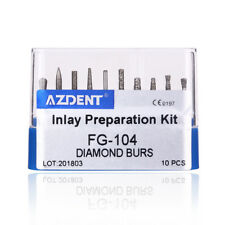 Dental Inlay Preparation Diamond Burs Drill Kit 10Pcs/Kit FG-104 USA
