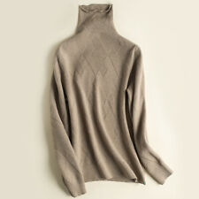 New Women Cashmere Turtleneck Sweater Winter Warm Knitwear Tops Pullover 10Color