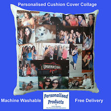 Personalised Photo Collage Cushion Cover 40x40cm