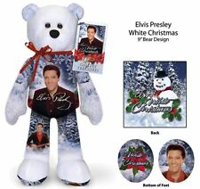 Elvis Presley White Christmas Bear --- Great Friend Gift Ideal