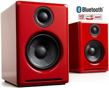 Audioengine A2+ Wireless 60W Powered Desktop Speakers (Bluetooth- Wireless, Red)
