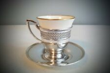 Watson Sterling Silver & Lenox Porcelain Demitasse Cup & Saucer (5 Available) G1