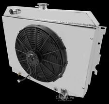 3 Row Champion Radiator With Shroud & Fans For 1968-74 Dodge Plymouth Cars