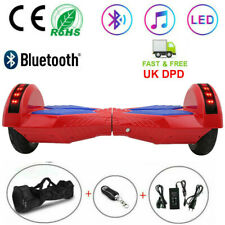 2020 NEW Hover 8'' Bluetooth Self Balancing Scooter Board Flash Wheels UK Plug