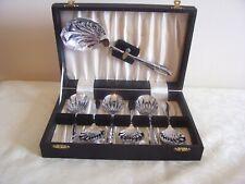vintage art deco dessert spoon cutlery set fruit unused EPNS 1930s 99p no res