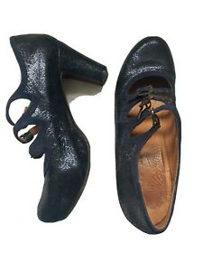 Chie Mihara Navy Glittery Shoes 40.5/41 Worn Once.