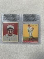 1930's Baseball Card Lot **RARE** (1932 Carmel Ty Cobb + 1933 Goudey Jimmy Foxx)