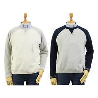 Polo Ralph Lauren Crew Pullover 2-Tone Sweatshirt Sweats w/ V, Pony  2-colors