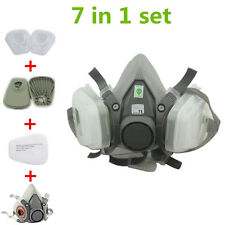 1 Set Gas mask Half Face For 3M 6200 Spray Painting Protection Respirator