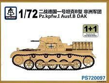 S-Model 1/72 720097 WWII German Pz.Kpfw.I Ausf.B DAK (2 Vehicles in Box)