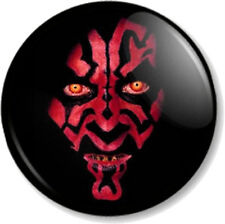 "Darth Maul 25mm 1"" Pin Button Badge Star Wars Movie Character Villain Baddy Geek"