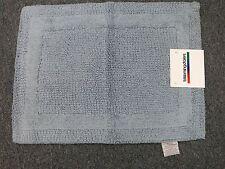 Bloomingdale's Platinum III Bath Rug, 18 x 24 - ocean blue 100% pure cotton new