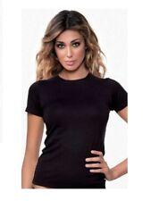 Tris 3 T-shirt Maglia Maglietta Donna Jadea mezza Manica Girocollo Art. 4180 Nero XS