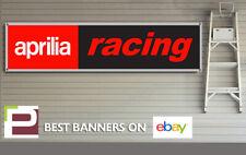 Aprilia Racing Banner for Workshop, Garage,1300mm x 325mm, Aprilia Bikes