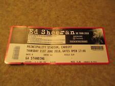 Ed Sheeran UK Tour 2018 Thursday 21 June Principality Stadium Cardiff Ticket.