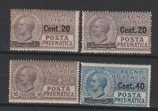 FRANCOBOLLI - 1913/25 REGNO POSTA PNEUMATICA MNH Z/8078