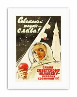 SPACE CULTURAL COSMONAUT GAGARIN HERO ICON USSR LARGE POSTER ART PRINT BB2822A
