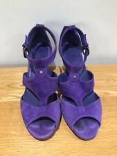 jones purple suede sandals shoes worn twice 39 6