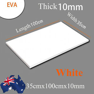 White EVA Foam Sheets Kids Handmade DIY Craft Cosplay Model 35cmx100cmx10mm