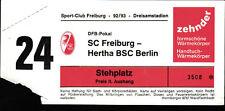 Ticket DFB-Pokal 92/93 SC Freiburg - Hertha BSC