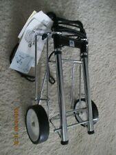 CLIPPER Luggage Cart Heavy Duty Steel Folding Roller with Wheels 150 lb Cap New