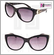 GUCCI Horsebit 3711 Black Gold Grey Gradient Cat Eye Sunglasses GG3711S Women