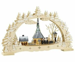 Schwibbogen Fensterleuchter Seiffener Kirche 45 cm mit Trafo