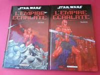 STAR WARS COMICS - L'EMPIRE ECARLATE - TOME 1 ET 2 - COMPLET - DELCOURT - BD
