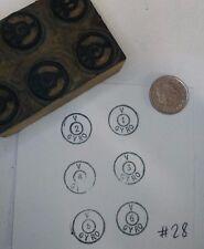Vintage Wood & Metal Printing Block Stamp POUR STAMPING - #28 Gyro