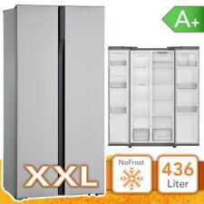 Side by Side Kühlschrank Kühl-Gefrierkombination A+ INOX Abtauautomatik