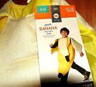 NEW YOUTH BANANA SUIT HALLOWEEN COSTUME BOY SIZE SMALL MEDIUM NWT