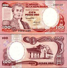 Colombia 1991, 100 Peso Oro, Banknote UNC