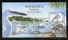 VANUATU  HERONS OF THE REEF  SOUVENIR SHEET MINT NEVER HINGED