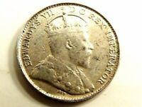"1902 Canada Five (5) Cents Silver ""Edward Vll"" Coin"