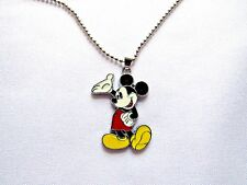 Mickey Mouse Necklace Enamel Charm Cartoon Character Jewelry