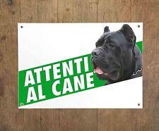 CANE CORSO 3 Attenti al cane Targa cartello metallo Beware of dog sign metal