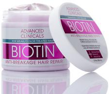 Advanced Clinicals Biotin Anti-Breakage Hair Repair Mask 12 Fl Oz (355mL)
