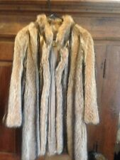Woman's Fur Coat Excellent Sz M/L Fox or Raccoon Christie Brothers ABTUC